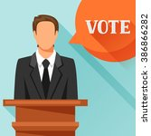 candidate of party involved in... | Shutterstock .eps vector #386866282