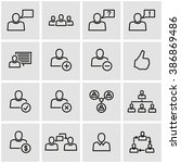 vector line office people icon... | Shutterstock .eps vector #386869486