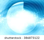 eye scan with soft lines | Shutterstock . vector #386873122