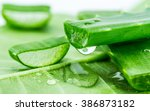 Small photo of Aloe on green leaf