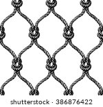 Rope seamless tied fishnet pattern . Rope seamless tied fishnet pattern . Rope seamless tied fishnet pattern . Rope seamless tied fishnet pattern . Rope seamless tied fishnet pattern - stock photo