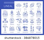 line vector icons in a modern... | Shutterstock .eps vector #386878015