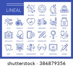 line vector icons in a modern... | Shutterstock .eps vector #386879356