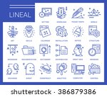 line vector icons in a modern... | Shutterstock .eps vector #386879386