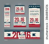 voting banners vector set... | Shutterstock .eps vector #386885656