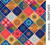 seamless pattern. vintage... | Shutterstock .eps vector #386891605
