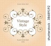 rich ornate vintage frame....   Shutterstock .eps vector #38689192