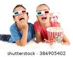 children's couple with 3d... | Shutterstock . vector #386905402