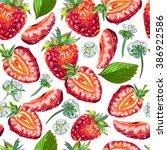 seamless pattern of... | Shutterstock .eps vector #386922586