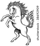 horse drawing | Shutterstock .eps vector #38692909