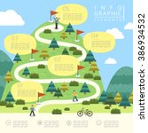 mountain hiking infographic... | Shutterstock .eps vector #386934532