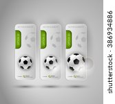 vector ball of soccer.... | Shutterstock .eps vector #386934886