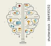 education infographic design... | Shutterstock .eps vector #386935252