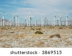 Small photo of Desert wind farm just outside of Palm Springs California.