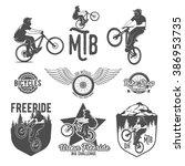 set of vintage and modern...   Shutterstock .eps vector #386953735