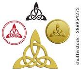 triskele  triskelion  ancient... | Shutterstock .eps vector #386954272
