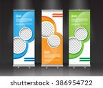 roll up banner stand design.... | Shutterstock .eps vector #386954722