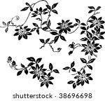 flower wallpaper | Shutterstock .eps vector #38696698