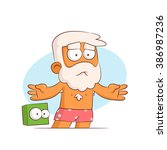 a series of characters on the... | Shutterstock .eps vector #386987236