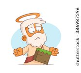 a series of characters on the... | Shutterstock .eps vector #386987296