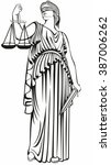 lady justice . greek goddess... | Shutterstock .eps vector #387006262
