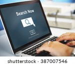 search now exploration discover ... | Shutterstock . vector #387007546