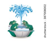 vector drawing of a fountain... | Shutterstock .eps vector #387008002