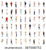 people diversity isolated over... | Shutterstock . vector #387008752
