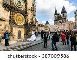 prague  czech republic  ... | Shutterstock . vector #387009586