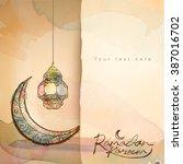 ramadan kareem greeting design... | Shutterstock .eps vector #387016702