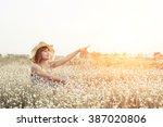 sexy beautiful woman wearing... | Shutterstock . vector #387020806