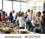 diversity people party... | Shutterstock . vector #387027052