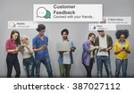customer feedback opinion reply ... | Shutterstock . vector #387027112