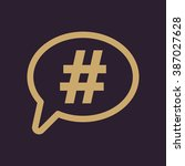 the hashtag icon. social... | Shutterstock .eps vector #387027628