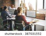 finance report statistic... | Shutterstock . vector #387031552