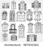 set of vintage windows | Shutterstock .eps vector #387032362