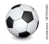 soccer ball with shadows... | Shutterstock . vector #387032482