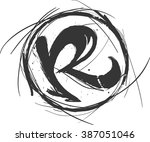 hand draw sketch rock logo. r... | Shutterstock .eps vector #387051046