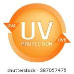 uv protection logo  ...   Shutterstock .eps vector #387057475