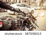 Motorcycle Ignition. Biker...