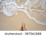 Vacation On Ocean Beach  Feet...