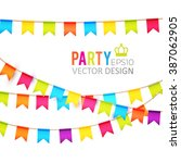 party flags design with... | Shutterstock .eps vector #387062905
