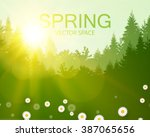 Spring Background. Forest With...