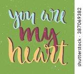 vector calligraphy. hand drawn... | Shutterstock .eps vector #387069382