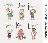 cute alphabet profession....