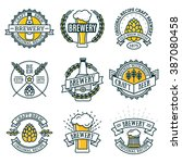 vintage craft beer retro design ... | Shutterstock .eps vector #387080458
