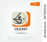 cricket sport logo. sport game | Shutterstock .eps vector #387090325