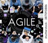 Small photo of Agile Agility Nimble Quick Fast Concept