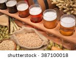 beer crate with many different... | Shutterstock . vector #387100018