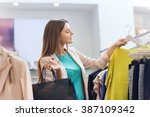 sale  fashion  consumerism and... | Shutterstock . vector #387109342